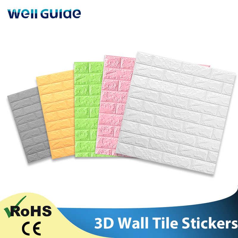 Adesivo de parede DIY 3D Mármore papel Adesivo À Prova D' Água Adesivos de Parede Papers Home decor Kids Room 3D Auto-Adesivo Papel De Parede tijolo