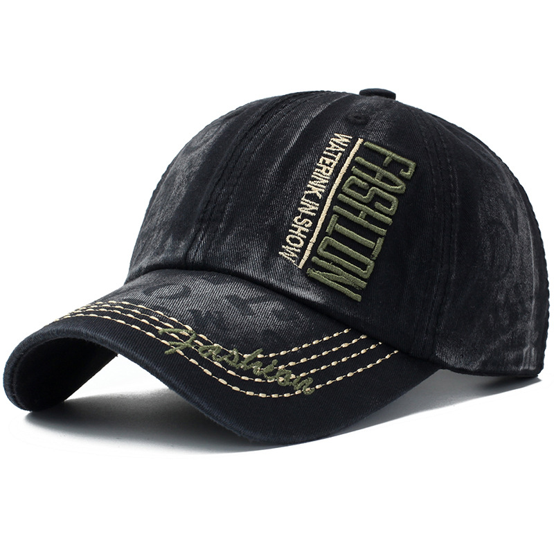 Washed Cotton Baseball Cap For Men Women Denim Snapback Sun Hat Fashion Embroidery Unisex Retro Cap