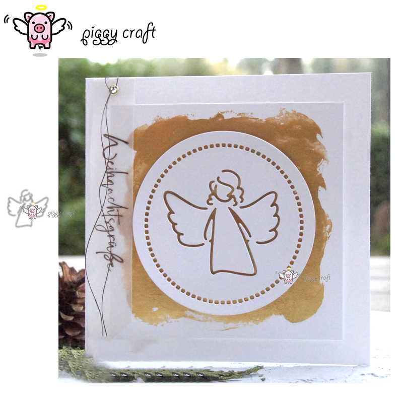 Piggy Craft metal cutting dies cut die mold New Angel wings girl Scrapbook paper craft knife mould blade punch stencils dies