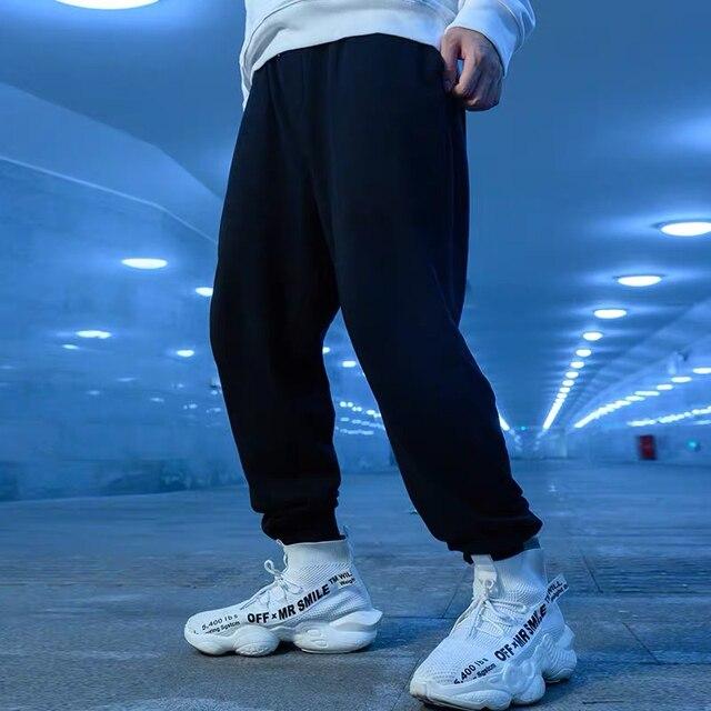 ZAZOMDE New Sweatpants Men  Plus Velvet Warm streetwear Pants Fashion Winter Pants Men Drawstring Trousers For Men Casual Pants
