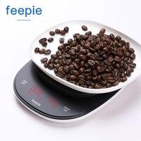 가정용 전기 규모 휴대용 3 kg/0.1g 물방울 커피 규모 타이머 전자 디지털 주방 규모 고정밀 led