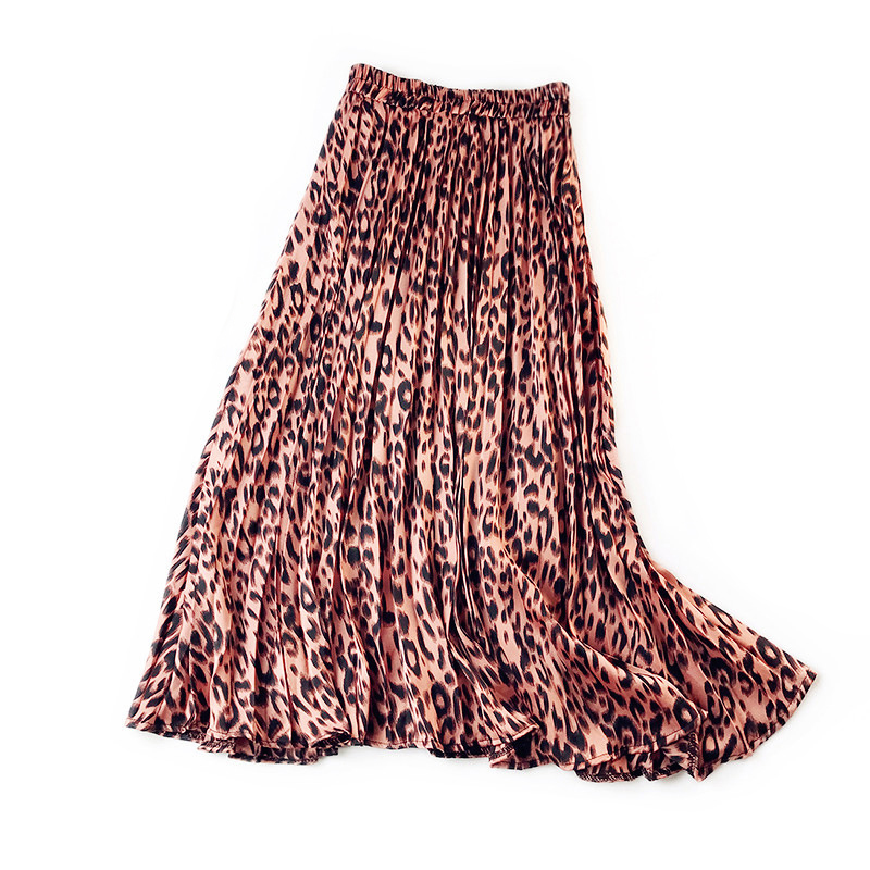 LANMREM 2020 NEW Spring And Summer A-line Double Multi-layer Mesh Halfbody Skirt Wholesales  Leopard Printed High Waist WL201