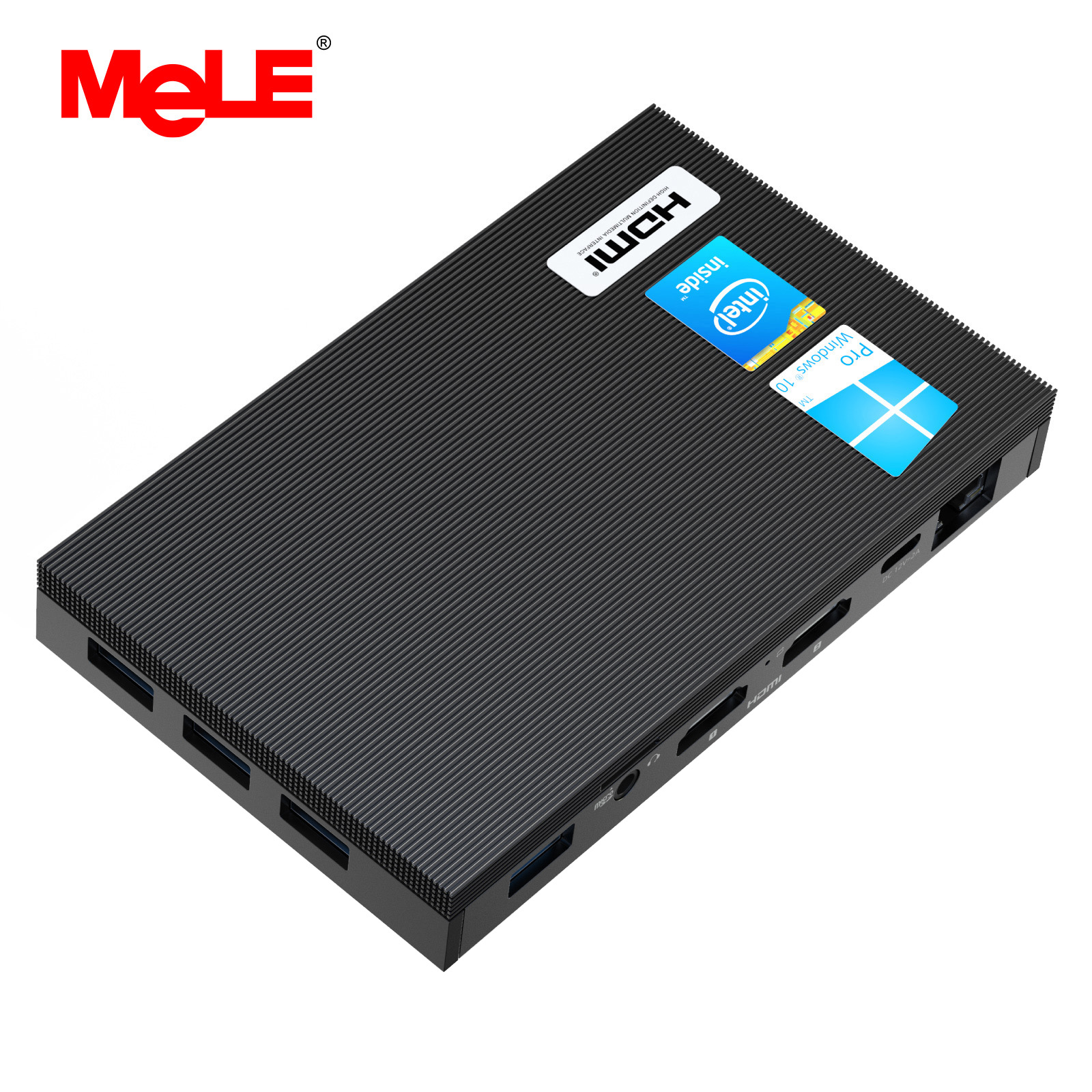MeLE Fanless 4K Mini PC Intel Celeron J4125 Quad Core 8GB 128GB Windows 10 Desktop Computer Dual HDMI 2.4G/5G Dual-band WiFi SSD