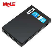 Mele fanless 4k mini pc intel celeron j4125 quad core 8gb 128gb windows 10 desktop computador duplo hdmi 2.4g/5g duplo-faixa wifi ssd