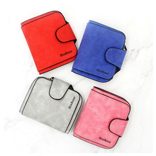 Lady Snap Fastener Zipper Short Clutch Wallet Luxury Brand Women Scrub Leather Female Wallets Purse Card Holder