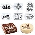 1Pc Ramadan Kareem Spray Schablonen Geburtstag Kuchen Form Dekorieren Werkzeuge Eid Mubarak Muslim Islamischen Festival Party DIY Dekorationen