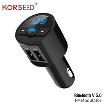 FM Transmitter 3.6A Quick USB Charger Bluetooth Car Kit Modulator Audio Music Mp3 Player Phone Wireless Handsfree Carkit