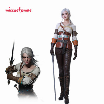 Ciri Costume Cosplay Donna Halloween Outfit 1