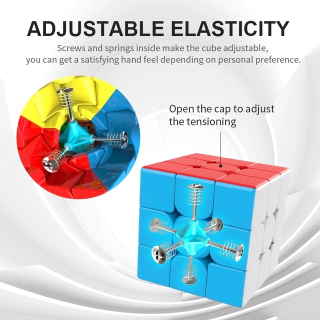 MOYU 3x3 Magic Cube Meilong 3C Beginner Speed Cubes Professional Rubix Cube Educational Cubo Magico Toys For Children Adult Gift 2