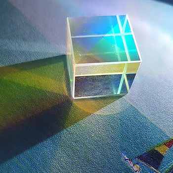 22mm Cubic Science Cube Optical Prisma Photography with Hexahedral Prism Home Decoration Prism Glass 1 inch corner cube prism no coating height 19mm high precision bk7 optical glass trihedral retroreflector