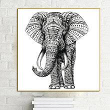 Слон холст искусственный на холсте настенное украшение для гостиной