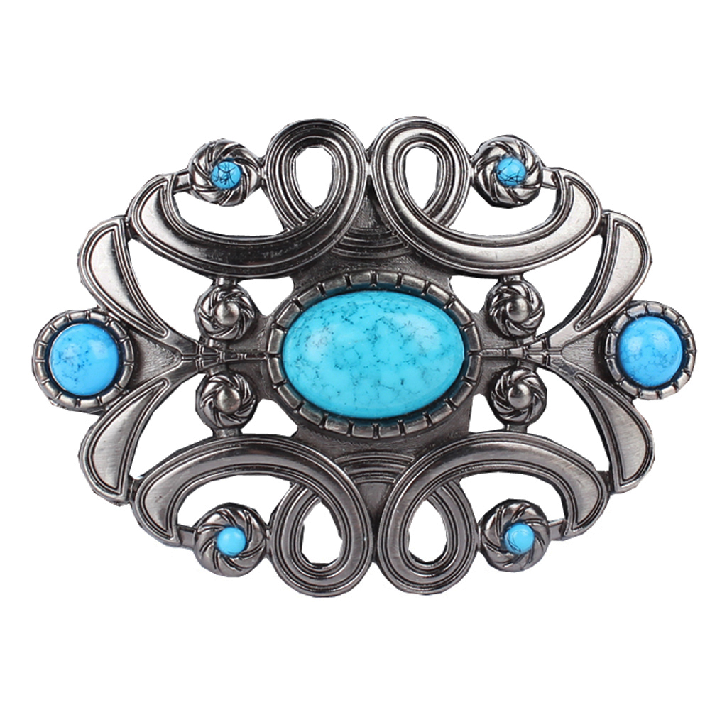 Boho Western Cowboy Cowgirl Leather Belt Buckle  Women Flower Zinc Alloy Rodeo Indian Buckle For Belt Up To 1.5