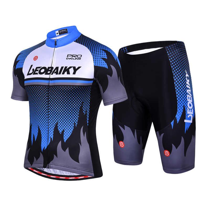 Letnie krótkie rękawy szybkoschnący zestaw koszulek rowerowych mężczyźni szosowe jednolite wyścigi rowerowe odzież sportowa kostium jeździecki