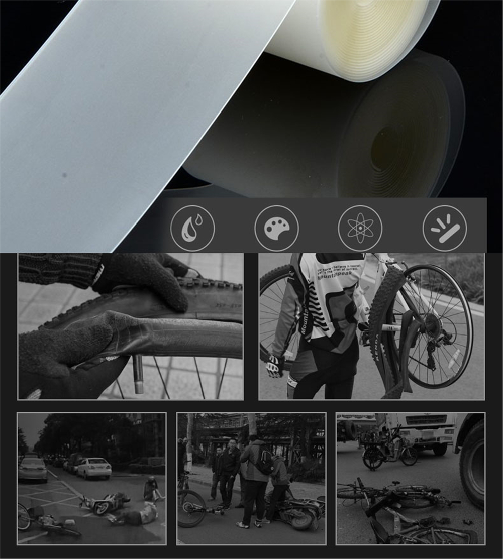 Bicycle Anti Stab Tyre Cushion Bike Tire Liner Anti Puncture Protectors Inner Tube Explosion Proof Belt 700C 1Set