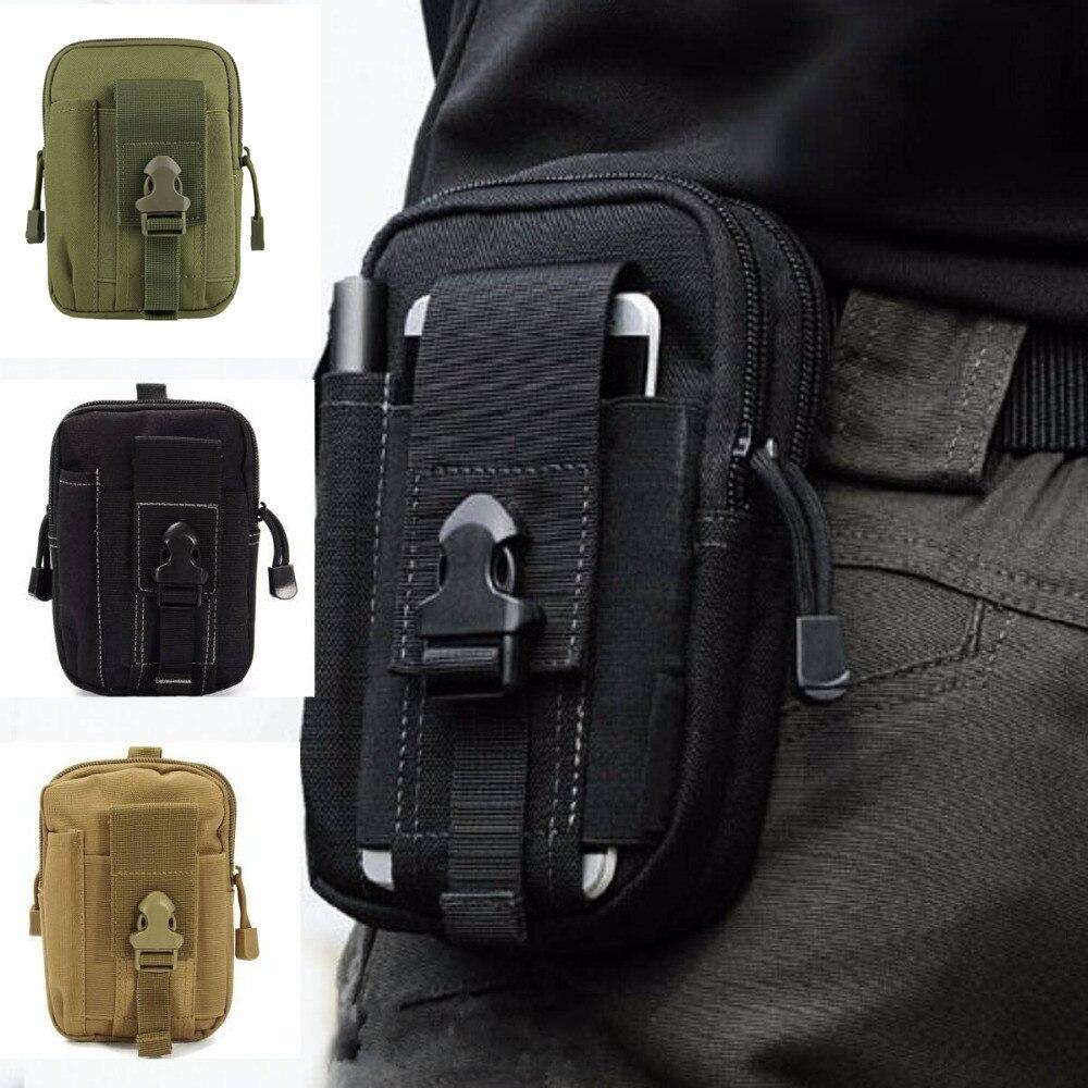 Bolso táctico militar al aire libre bolso impermeable de la correa de la cintura del Camping mochila de los deportes del ejército bolsa de la cartera funda del teléfono para viajes de senderismo
