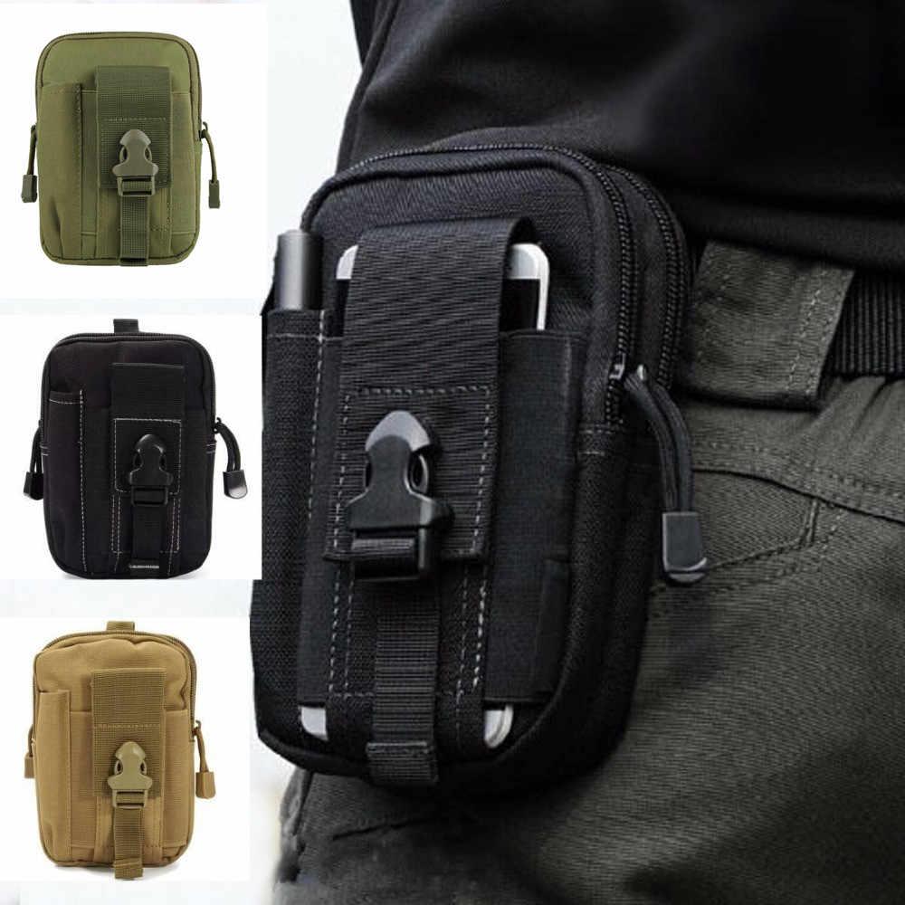 Sac tactique militaire en plein air étanche Camping taille ceinture sac sport armée sac à dos portefeuille pochette coque de téléphone pour voyage randonnée