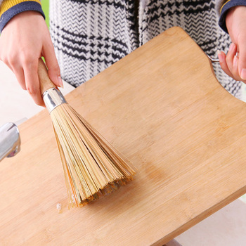 Non-stick oil bamboo wok brush kitchen pot strong polishing Rust Remover scrubber dust broom cleaner Household Cleaning Tools 4