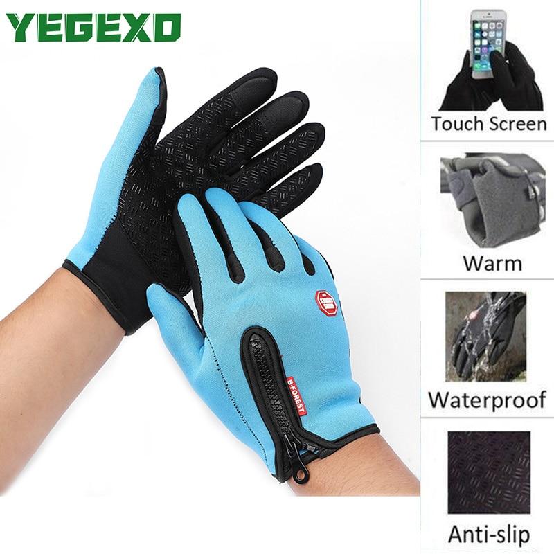 Motorcycle Gloves Waterproof Touch Screen For yamaha dragstar 650 suzuki gsr 600 bmw k1300r ktm jersey yamaha pw50