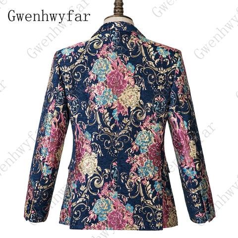 Gwenhwyfar Navy Blue Peaked Lapel 3 Pieces Flower Suit Mens Tuxedo Floral Wedding Prom Suits Best Man Blazer With Pants Vest Karachi