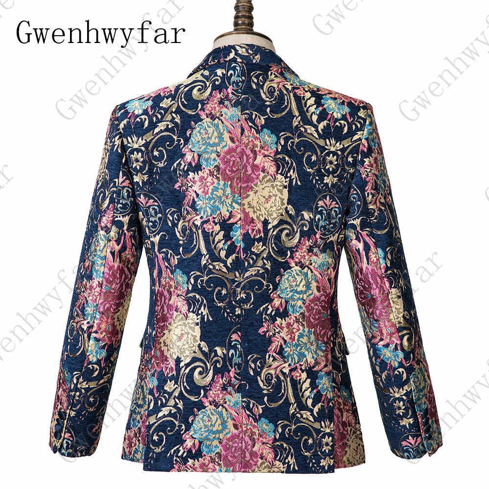 Gwenhwyfar granatowy szczyt Lapel 3 sztuk kwiat garnitur męska Tuxedo kwiatowy Prom garnitury ślubne najlepszy człowiek blezer ze spodniami kamizelka