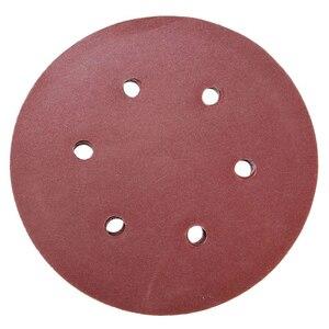 Image 4 - 60PCS 6 inch/150mm מלטש דיסק Sandpapers 60 80 120 180 240 320 ליטוש כרית חצץ עבור ניקוי וליטוש שוחקים כלים