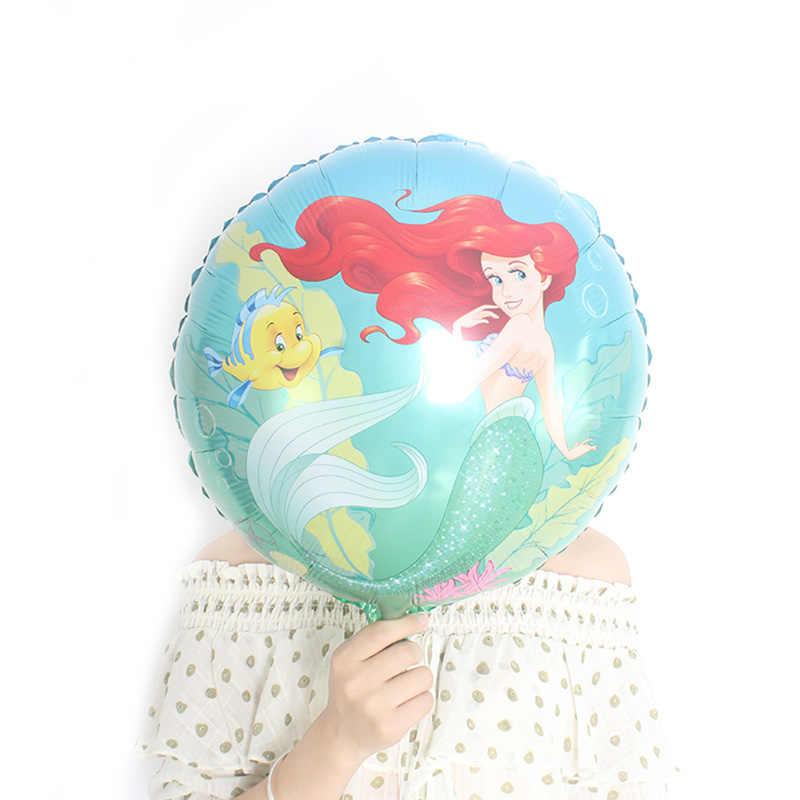 large Mermaid foil balloons Ariel of cartoon princess ballon helium kids birthday decor globos party supplies Baby Shower Ball