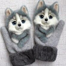 Gloves Mittens Christmas-Gifts Girls Men Warm And Cat Cartoon 3D Thicken Outdoor Winter
