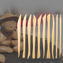 10 sztuk zestaw rzeźbienie DIY modelowania zestaw pędzli z tworzywa sztucznego ABS glina ceramiczna narzędzia dla dzieci szkoła rysunek artystyczny materiały malarskie tanie tanio NYLON Farby Drewna Akwarela pędzla Other 6 lat 15 5cm