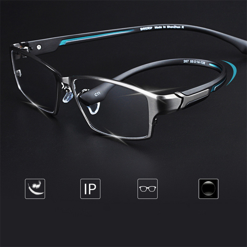 Vazrobe Brand Eyeglasses Men Photochromic Man Glasses Frame Man Optic Ultra Light Spectacles For Prescription Myopia Diopter