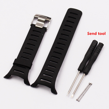 Acessórios de relógio adequado para suunto t série suunto t1 t1c t3 t3c t3d t4c t4d pulseira de borracha silicone pulseira de relógio