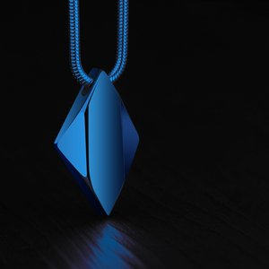 Image 4 - High Polished Tungsten Carbide Pendant Necklace for Man with 45/50/55cm Necklace, Engraving