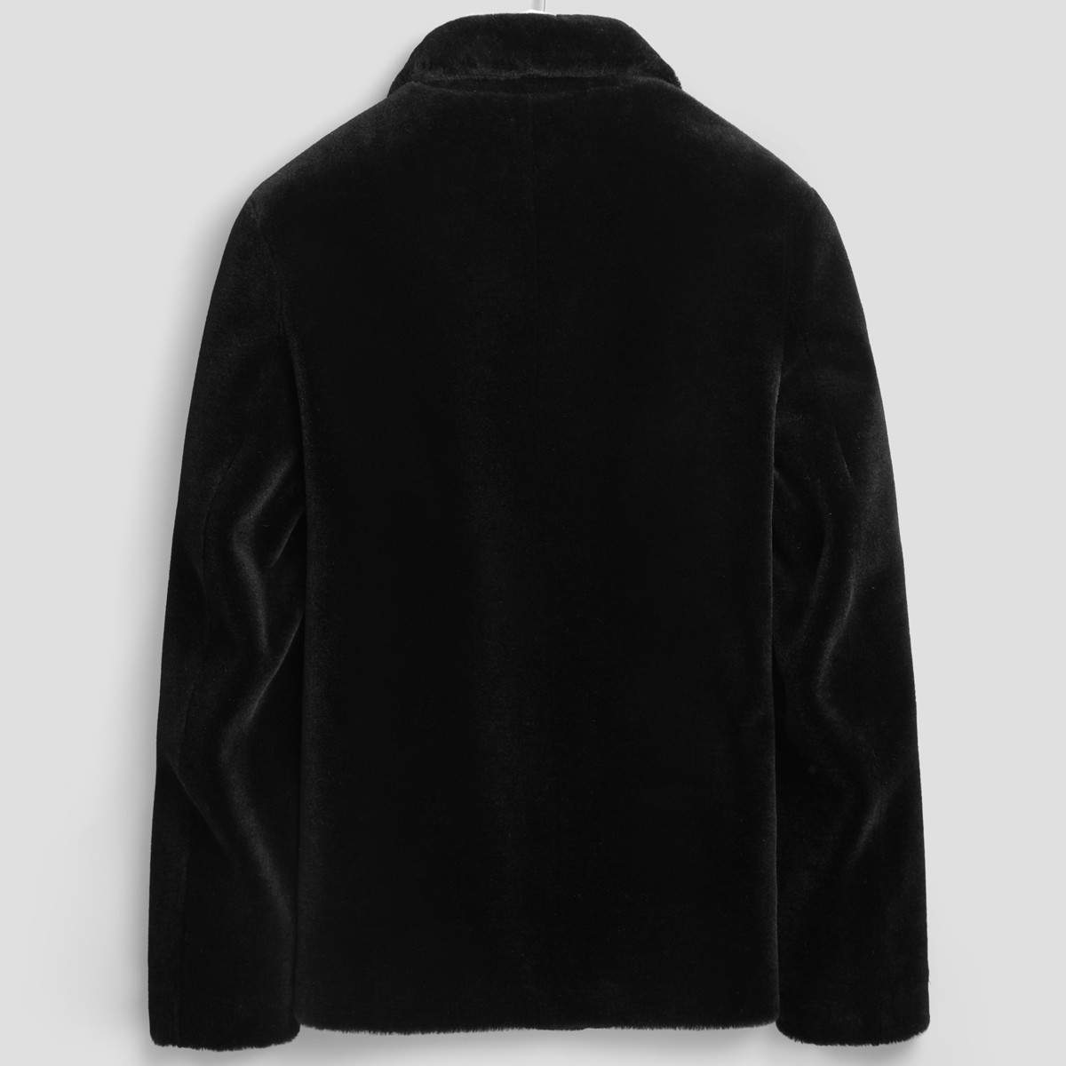 Real Sheep Shearling Fur Winter Jacket Men 100% Wool Coat Streetwear Mens Jackets And Coats Manteau LSY020183 MY1252