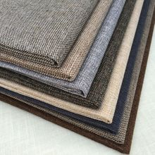 Sofa quality thickening linen cloth solid color plain fabric fluid pillow cushion soft bag diy
