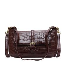 купить New Crossbody Bags for Women 2019 Leather Fashion Hasp Handbag Designer Small Shoulder Bag Flap Ladies Retro alligator Crossbody по цене 1069.45 рублей