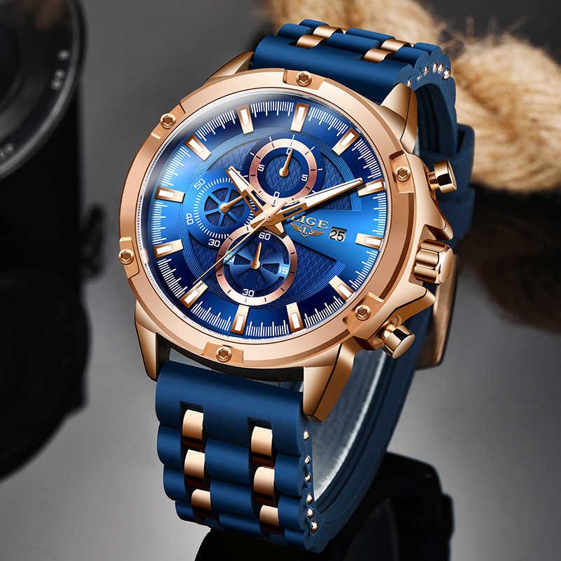 Luik Sporthorloge Mannen Waterdichte Heren Horloge Quartz Horloges Voor Mannen Luxe Merk Siliconen Band Man Klok Relogio Masculino