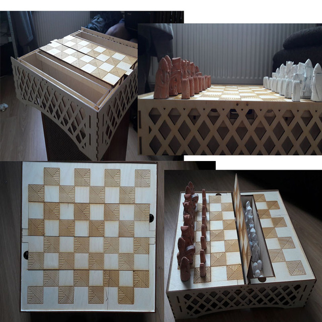 17 sets of Chess vector design files for CNC laser cutting engraving drawing files collections