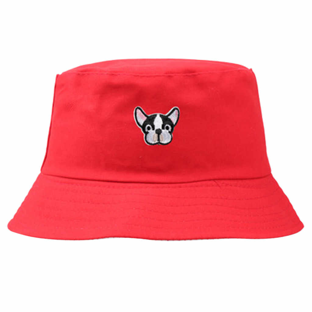 2019 Autumn Hat Women Mens Panama Bucket Hat Design Cute Animal Pattern Flat Sun Visor Fishing Fisherman Hat Autumn Fashion Hat