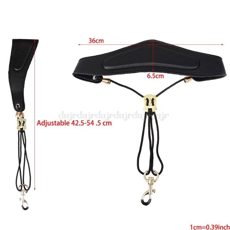 Adjustable Saxophone Shoulder Strap Leather Neck Strap Hang Neck Shoulder J09 20 Dropship
