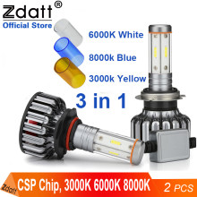 Zdatt H7 LED LOW Beam ไฟหน้า H8 H11 H4 LED Light 100W 24V 12000Lm 12V ไฟหน้า 3000K 6000K 8000K โคมไฟ Automoblies(China)