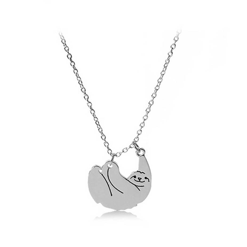New Fashion Women Cartoon Animal Charm Link Chain Shape Pendant about 50cm Jewelry 27mm x 30mm Necklace