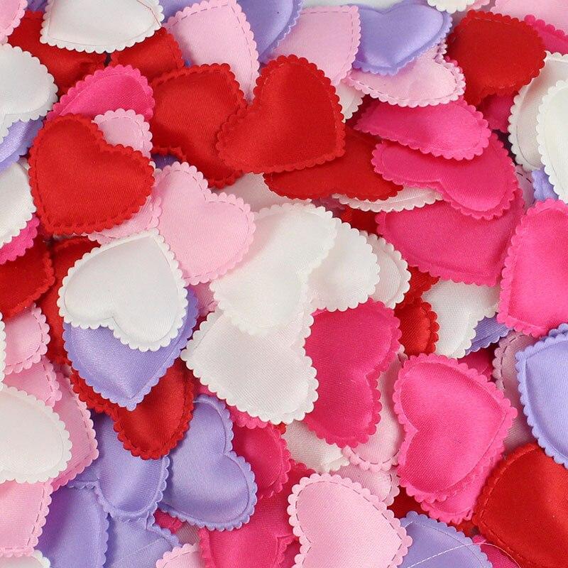 100pcs/bag 2cm Heart Shape Wedding Decorations Sponge Petals Wedding Room Valentine's Day Decoration