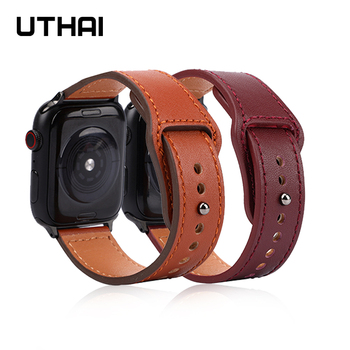 Strap for apple watch band 38MM 42MM 40MM 44MM Genuine leather watchband For iwatch 3/2/1 Apple Watch 4/5 Accessories - discount item  50% OFF Watches Accessories