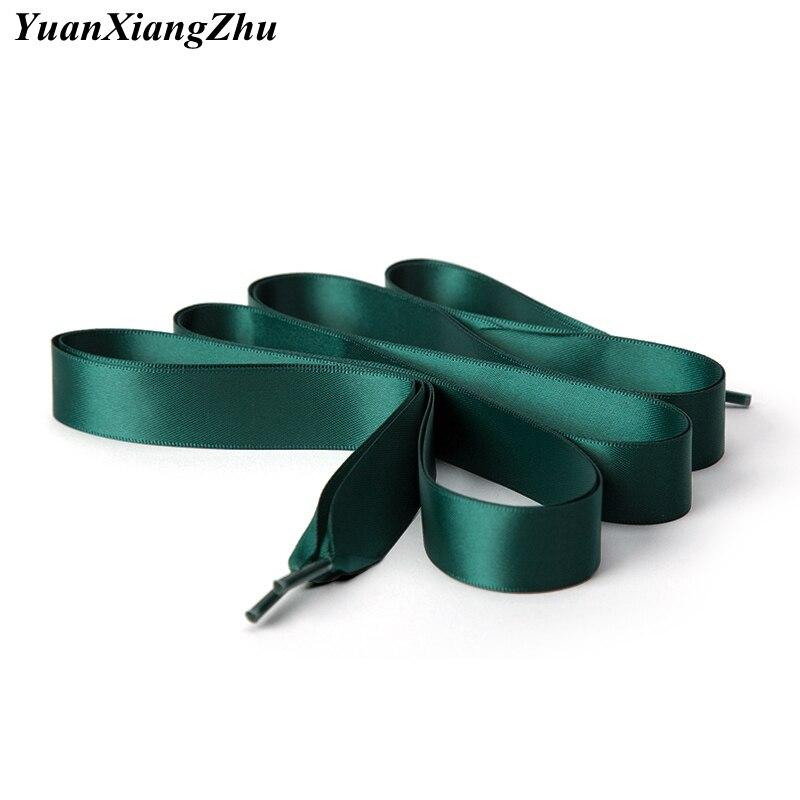 1 Pair 2 CM Width Flat Satin Shoelaces Silk Ribbon Shoe Laces Boots Women Sneakers ShoeLace 22 Colors Length 80CM 100CM 120CM