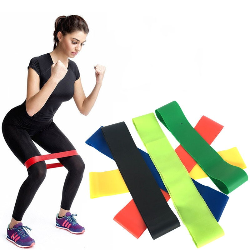 Yoga Bands Rubber Band Workout Fitness Gym Equipment Rubber Loops Latex Yoga Gym Strength Training Athletic Rubber Bands