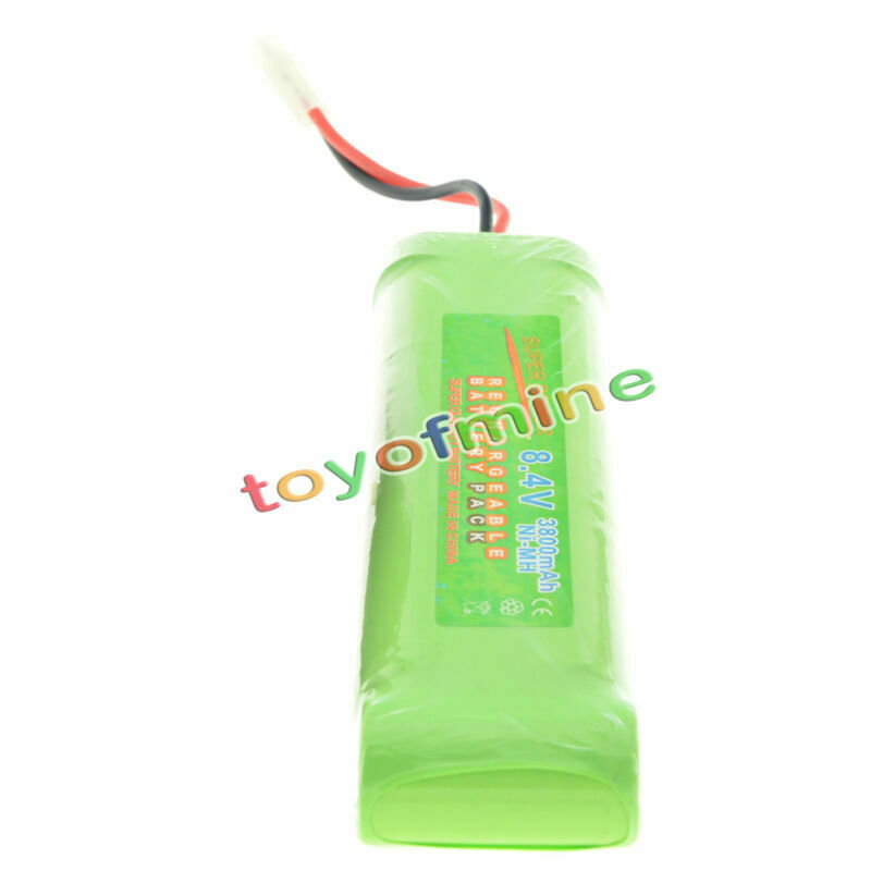 1x 8.4V NiMH 3800mAh Super Power Rechargeable Battery Pack Car Tamiya Plug image