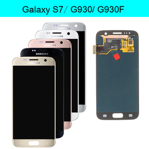 Image 2 - ORIGINAL SUPER AMOLED 5.1 LCD Ersatz mit Rahmen für SAMSUNG Galaxy S7 Display G930 G930F Touchscreen Digitizer Montage