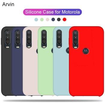 Перейти на Алиэкспресс и купить Чехол Arvin для Motorola Moto One Action Vision Power Macro G7 G8 Plus Z3 Play P30 Note G8 Power Lite, жидкий силиконовый чехол