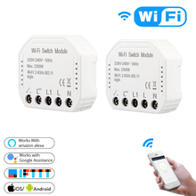 лучшая цена MS-104 WIFI Smart Switch Module Universal Smart Home Remote Control WiFi Automation Modules for Amazon Alexa Google Home IFTTT
