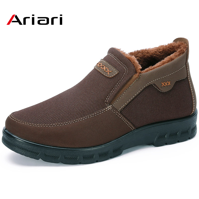 Winter Non-Slip Warm Soft Bottom Large Size 48 Men'S Booties Canvas Surface Rubber Sole Comfortable Lightweight Men'S Boots