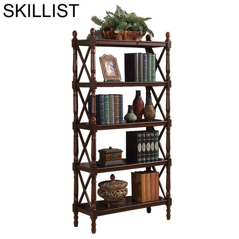 Oficina Mueble Industrial Home Estanteria Para Libro Mobilya Vintage Wood Furniture Retro Decoration Bookcase Book Case Rack